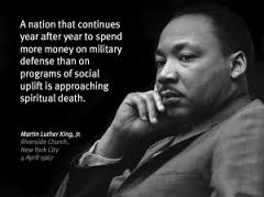 M.L. King on war