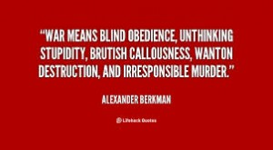 Obedience and war